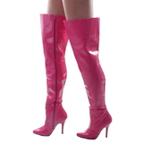 Fuchsia Lack 13 cm SEDUCE-3010 Overknee Stiefel für Männer