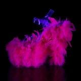 Fuchsia Marabou Federn 18 cm ADORE-708F pole dance high heels
