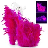 Fuchsia Marabou Federn 20 cm FLAMINGO-808F pole dance high heels