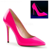 Fuchsia Neon 13 cm AMUSE-20 Damen Pumps Stiletto Absatz