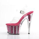 Fuchsia glitter 18 cm Pleaser ADORE-708G pole dance high heels schuhe