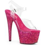 Fuchsia glitter 18 cm Pleaser ADORE-708LG pole dance high heels schuhe