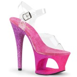 Fuchsia glitter 18 cm Pleaser MOON-708OMBRE pole dance high heels schuhe