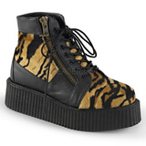Fur 5 cm CREEPER-571 Platform Mens Creepers Ankle Boots
