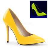 Gelb Neon 13 cm AMUSE-20 Damen Pumps Stiletto Absatz