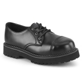 Genuine leather RIOT-03 demonia shoes - punk steel toe shoes