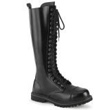 Genuine leather RIOT-20 demonia boots - unisex steel toe combat boots
