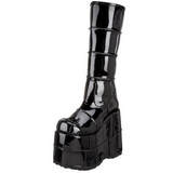 Glänzend 18 cm STACK-301 Plateau Gothic Stiefel Herren