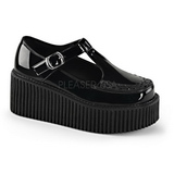 Glänzend CREEPER-214 Plateau Creepers Schuhe Damen