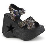 Glitter 13 cm Demonia DYNAMITE-02 lolita schuhe wedge sandaletten