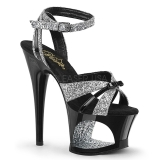 Glitter 18 cm Pleaser MOON-728 Platform High Heel Schuhe