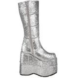 Glitter 18 cm STACK-301G Plateau Gothic Stiefel Herren