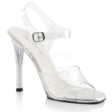 Glitzern 11,5 cm Fabulicious GALA-08MMG Sandaletten mit high heels
