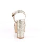 Gold 11,5 cm CELESTE-09 glitzer sandaletten mit blockabsatz