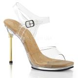 Gold 11,5 cm CHIC-08 Sandaletten mit stiletto absatz