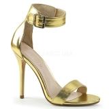 Gold 13 cm AMUSE-10 high heels für männer