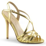 Gold 13 cm Pleaser AMUSE-13 Sandaletten mit high heels