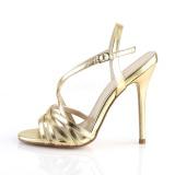 Gold 13 cm Pleaser AMUSE-13 Sandaletten mit high heels