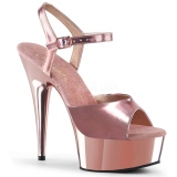 Gold 15 cm DELIGHT-609 pleaser high heels mit plateau
