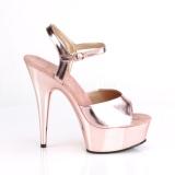 Gold 15 cm DELIGHT-609 pleaser high heels mit plateau