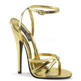 Gold 15 cm Devious DOMINA-108 Sandaletten mit high heels