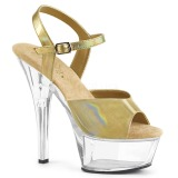 Gold 15 cm KISS-209BHG High Heels Plateauschuhe