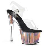 Gold 18 cm ADORE-708HGI Hologramm plateau high heels