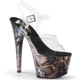 Gold 18 cm ADORE-708SP Hologramm plateau high heels