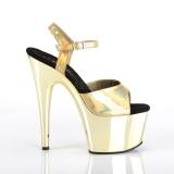 Gold 18 cm ADORE-709HGCH Hologramm plateau high heels