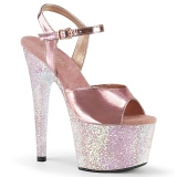 Gold 18 cm ADORE-709LG Glitter Platform High Heels Shoes