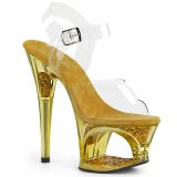 Gold 18 cm MOON-708GFT glitter plateau sandaletten