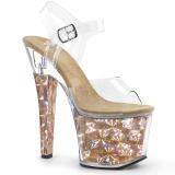 Gold 18 cm RADIANT-708HHG Hologramm plateau high heels