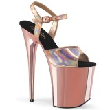 Gold 20 cm FLAMINGO-809HG pleaser high heels mit plateau