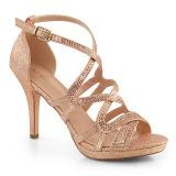 Gold 9,5 cm DAPHNE-42 Sandaletten mit stiletto absatz