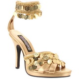 Gold 9,5 cm GYPSY-03 Womens High Heel Sandals