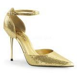 Gold Glitter 10 cm APPEAL-21 spitze stiletto pumps mit metallabsatz