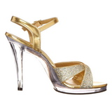 Gold Glitter 12 cm FLAIR-419G High Heels Damenschuhe für Herren
