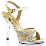 Gold Glitter 12 cm FLAIR-419G High Heels for Men