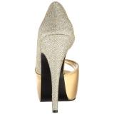 Gold Glitter 14,5 cm Burlesque TEEZE-41W herren pumps für breite füsse
