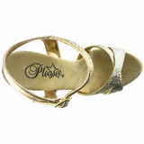 Gold Glitter 16,5 cm Pleaser ECLIPSE-619G High Heels Stilettos