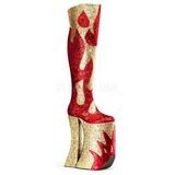 Gold Glitter 28 cm SPLASHY-3020 Overknee Stiefel für Drag Queen
