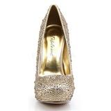 Gold Glittering Stones 13,5 cm FELICITY-20 Womens High Heels Shoes