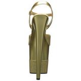 Gold Glitzern 20 cm Pleaser FLAMINGO-809-2G Plateau High Heels