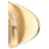 Gold Kunstleder 10 cm DREAM-438 grosse grössen stiefeletten damen