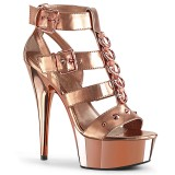 Gold Leatherette 15 cm DELIGHT-658 pleaser shoes with high heels