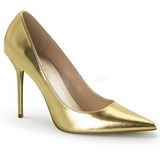 Gold Matt 10 cm CLASSIQUE-20 Damen Pumps Stiletto Absatz
