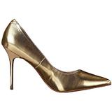 Gold Matt 10 cm CLASSIQUE-20 High Heels Pumps für Männer
