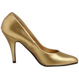 Gold Matt 10 cm VANITY-420 High Heels Pumps für Männer