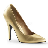 Gold Matt 13 cm SEDUCE-420 Damen Pumps Schuhe Flach