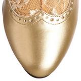 Gold Matt 5 cm FUNTASMA DAME-115 Retro Stiefeletten